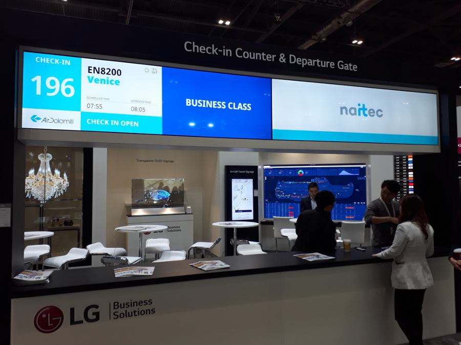 Naitec FIDS at LG boot during PTE London